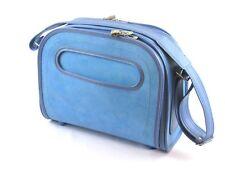 Samsonite Silhouette Travel Bureau Carry On Bag Blue Retro Vintage Shoulder 60's