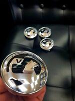 4x Vauxhall 60mm Felgendeckel Nabendeckel Nabenkappen Alufelgendeckel Chrom opc