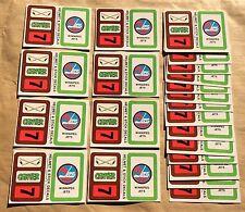 1979-80 Topps NHL Hockey Wax Pack Sticker Insert Winnipeg Jets Lot Of 25
