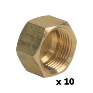 "ProFlo PFXCCCN Brass 3/8"" OD LF Compression Stop Valve Cap 9.525mm *Pack of 10*"