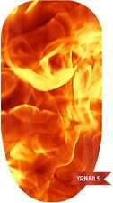 Nail WRAPS Nail Art Water Transfers Decals - This girl is on fire - W036