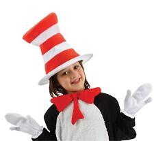CHILD DR SEUSS CAT IN THE HAT KIT TIE GLOVES HAT COSTUME DRESS ELLX3518