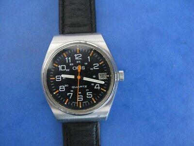 ORIS -Swiss- Quartz-Vintage-Rare-1980`S