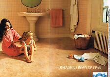 PUBLICITE ADVERTISING 094  1974   BALADE  moquette salle de bain & BALASTAR (2p