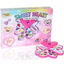 KreativeKraft Heart MakeUp Compact Case For Girls Kids Cosmetic Beauty Set Box