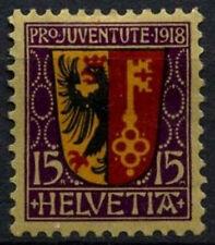Switzerland 1918 SG#J10, 15c Pro Juventute, Arms MH #D45719