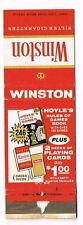 Front Strike Winston Cigarettes Playing Cards Premium Matchcover