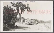 Vintage Car Photo Family 1946 1948 Dodge Automobile Roadside Victorville 742508