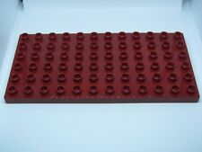 LEGO DUPLO @@ PLAQUE 4196 @@ PLATE 6 X 12 TENONS @@ ROUGE FONCE DARK RED