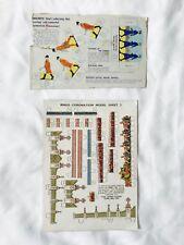 RARE Lot 1953 Queen Elizabeth II Coronation Coach Gates Paper Model - Rinso Ad