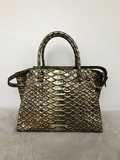 Brahmin Priscilla Satchel Slate Kent crossbody purse  $385