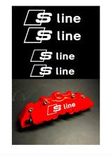 4x Audi S line Bremssattel Aufkleber weiß / hitzebeständig