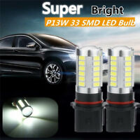 2X Xenon White High Power P13W LED Bulbs For Daytime Running Lights Fog Lamps HT