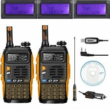 2x Baofeng Gt-3 TP MKIII Dual Band 1/4/8w Ham Two Way Radio 1x USB Cable Kit