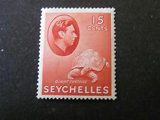SEYCHELLES, SCOTT # 133, 15c. VALUE COPPER RED1938-41 KGV1 ISSUE MH