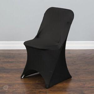 20 pc Black Spandex Folding Chair Covers Wedding Reception dt