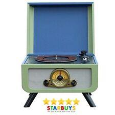 Steepletone Rico Vinyl Record Player Turntable with CD, Radio, USB Record & Play