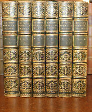 1855 The Poetical Works of Lord Byron 6 Volumes Fine Full Leather Binding