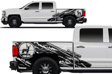 Custom Vinyl Decal Wrap Kit for Chevy Silverado Truck DEER HUNTER 2014-217 BLACK