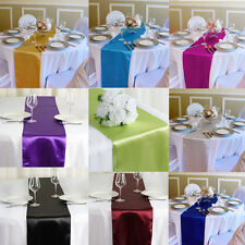 """12"""" x 108"""" Satin Table Runner Wedding Party Decorations Banquet Table Runners"""