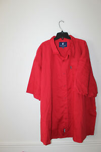 New with Tag Rocawear button down short sleeve red dress shirt men's 3XB $50