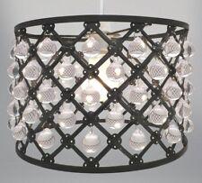 Country Club Bijou Light Fitting Black 26cm Modern Home Lighting Shade Decor