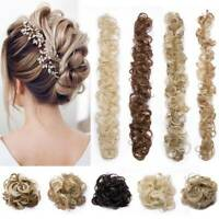 Real THICK Natural Scrunchy Messy Bun Hair Extension As Human Ponytail Hairpiece