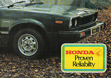 Honda Civic Accord TN360 1977-78 Original UK Sales Brochure