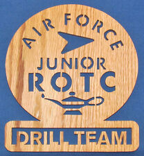 Air Force Junior ROTC Drill Team Plaque - Hand Cut From Oak