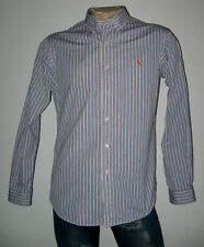 RALPH LAUREN HEMD DG 52 L CUSTOM FIT BAUMWOLLE BLAU    HERREN COTTON Button Down