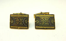 VINTAGE ART DECO STYLE ETCHED ELEGANT CUFF LINKS *