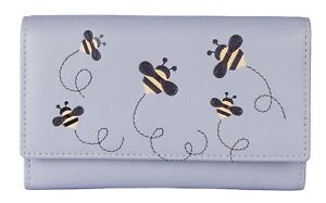 Bumble Bee FLAP OVER PURSE by Mala Leather soft leather GIFT DUSTBAG MISCHA 3432