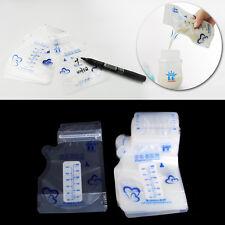 30pcs Baby Breast Milk Storage Pre-Sterilised Breastmilk Zipper Seal Bags Pouch