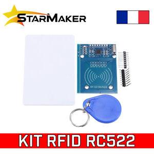 Kit RFID RC522 13.56 MHz Lecteur + Carte + Badge - Module pour Arduino Raspberry