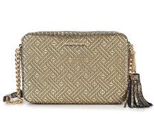 Michael Kors Ginny Maya Gold Metallic Leather Crossbody Handbag Zip Top NWT