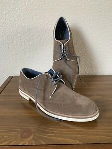 """Ted Baker London Light Brown Suede Wingtip Oxford Shoes Size 10 NEW """"Archerr 2"""""""