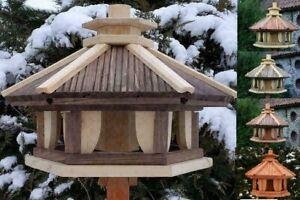 Vogelhaus aus Holz XXL-XL-L, Holzvilla, Vogelstation, Vogelhäuschen, Futterhaus