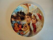 Limoge Collector Porcelain Plate La Vitrine Magique Jean Claude Guidou Christmas