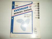 1980 Evinrude Service Shop Repair Manual 4.5 7.5 HP Models E5R CS E8R CS RLCS  x
