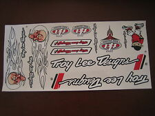 Troy Lee Designs Sticker White, Black & Red.