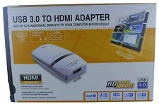 USB 3.0 Video Card to HDMI Adapter Output Supports 1080p & 2048x1152 for PC LCD
