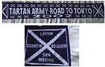 Scotland - Road to Tokyo - football scarf - Tartan Army