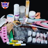 CNClear Acrylic Powder Glitter Nail Art Brush Cleanser Tool UV Gel Decor Set Kit