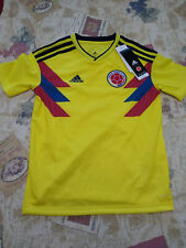 NWT Adidas FCF Columbia Youth Home Soccer Jersey Small Yellow/Navy BR3905