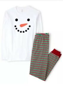 Gymboree Adult Pajamas Snowman  Holiday 2 Piece XL New In Bag