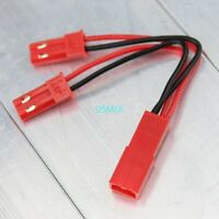 1pcs JST 1 Female to 2 Male Y Connector RC Battery Conversion Cable Wire
