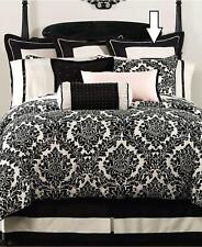 Waterford Linens Lisette Cotton Euro Pillow Sham Black / Cream
