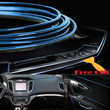 Blue 5M Edge Gap Interior Line Moulding Trim Molding Strip Decor For Car/Truck
