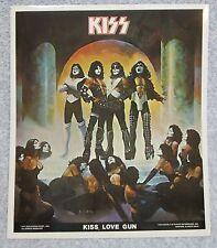1977 KISS LOVE GUN Glossy Self-Adhesive POSTER STICKER Licensed Heavy Metal Rock