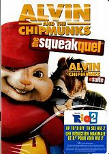 NEW DVD // ALVIN & and THE CHIPMUNKS // THE SQUEAKQUEL //